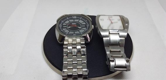 Lote 2 Relógios De Pulso Masculino