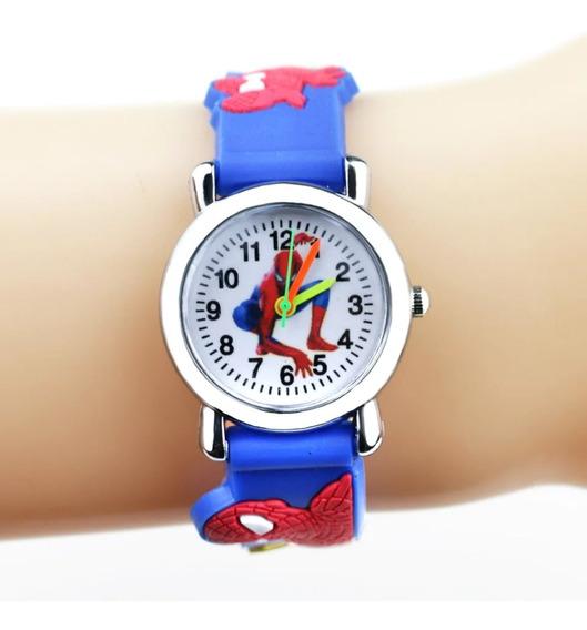 Relógio De Pulso Infantil Homem Aranha 3d Super Heróis