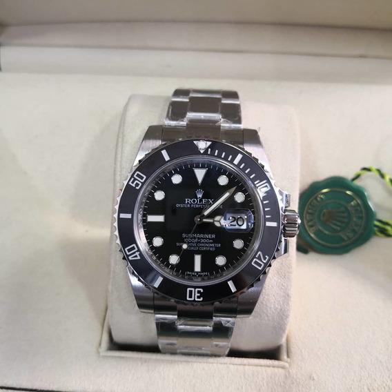 Relógio Masculino R. Submariner Black - Aço C /caixa Verde
