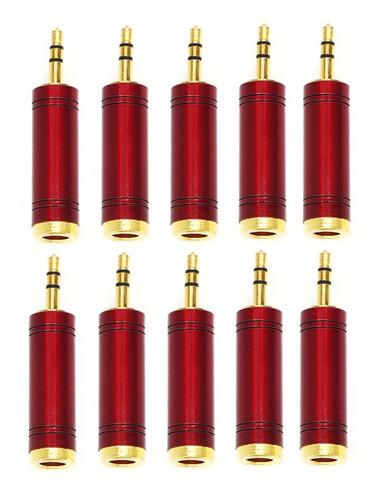 Imagem 1 de 5 de Kit 10 Plug Adaptador Star Cable J10st X P2 Stereo C/ Trava