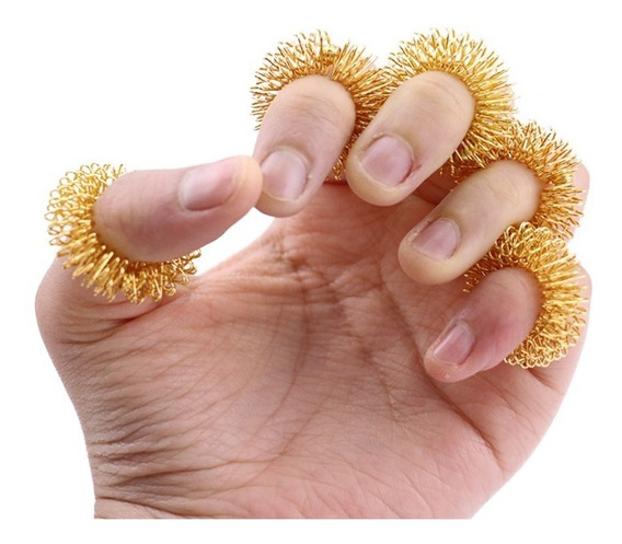 Kit 05 Anes Massageador Dos Dedos,acupuntura Saúde P/ Corpo