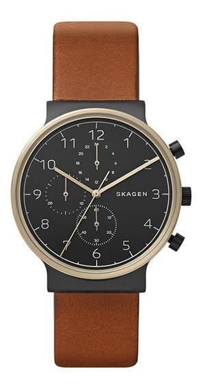 Relógio Skagen Feminino Ref: Skw6400/8cn Cronógrafo Black