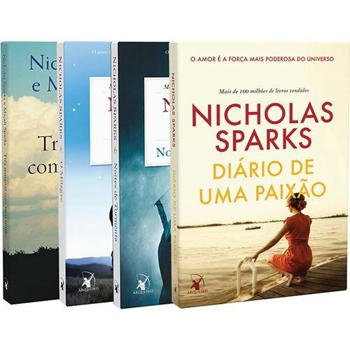 Livro - Coleção Nicholas Sparks ( 4 Livros ) Lacrado