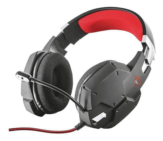 Fone de ouvido Trust Carus preto e vermelho