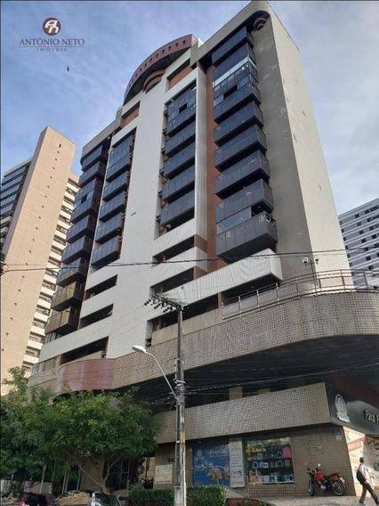 Apartamento Com 1 Dormitório À Venda, 60 M² Por R$ 280.000 - Meireles - Fortaleza/ce - Fl0001