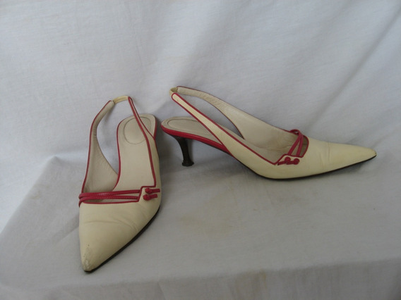 Stilettos Sergio Rossi, N° 40,cuero, Made In Italy