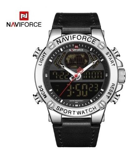 Relógio Masculino Naviforce 9164 Esportivo Digital Original