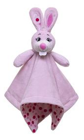 Naninha Coelha Rosa Em Plush Sonho De Luz