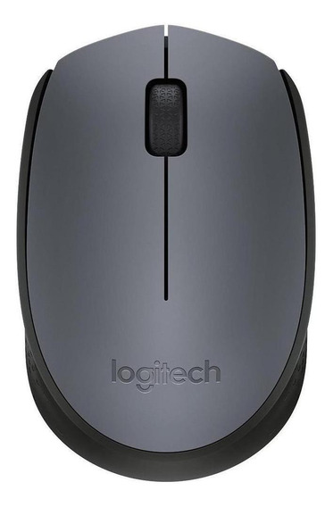 Mouse Logitech M170 prateado e preto