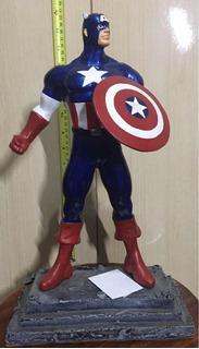 Capitão América Artesanal Em Resina
