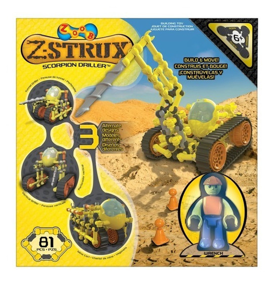Set De Construccion Perforadora Zoob Strux Scorpion Driller