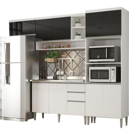 Cozinha Compacta Multimóveis Suiça Mdp 10 Portas 2 Gavetas
