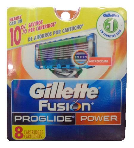 Imagen 1 de 1 de Cartuchos Para Gillette Fusion Proglide Power (8 Cartuchos)
