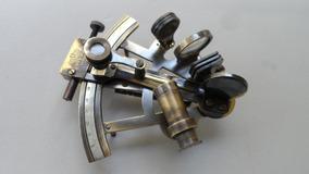 Astrolábio - Sextante 15cm/4pol. Bronze Patinado - Excelente