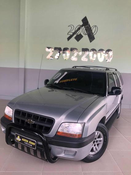 Blazer 2.4 2001 Prata Completa Com Banco Em Couro Revisada