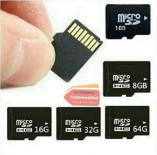 Tarjeta Memoria Micro Sd 1 Gb 64 32 32 16 8 4 2 X Mayor