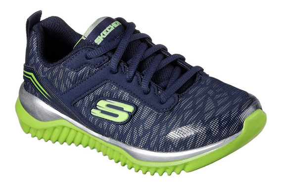Zapatillas Skechers Niño Turboshift Reflectivas Deportivas
