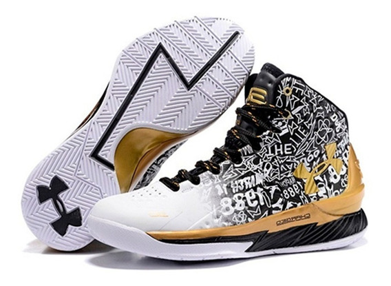 Zapatillas Basket Under Armour Curry 1 Gold + Obsequio