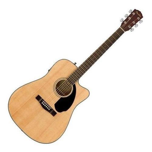 Guitarra electroacústica Fender Classic Design CD-60SCE abeto  natural derecha