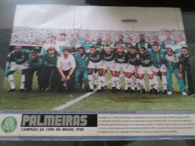 Poster Placar Palmeiras Campeão Copa Do Brasil 1998 21x27cm