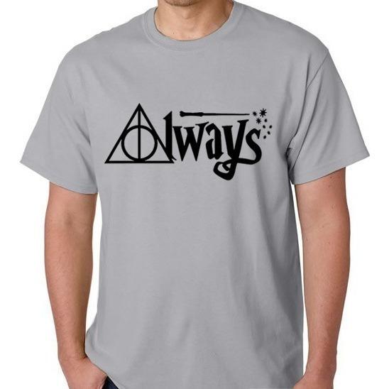 Camiseta Harry Potter Camisa Masculino Blusa Feminino Always