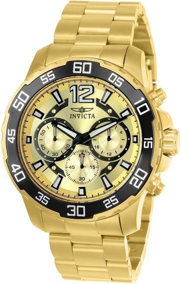 Relógio Invicta Pro Diver Cronógrafo Dourado-22715