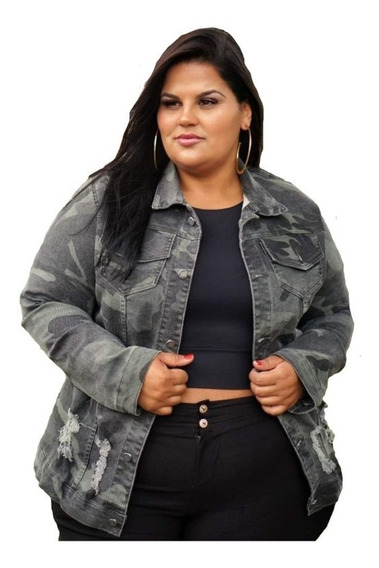 Jaqueta Jeans Plus Size G1 G2 G3 Moda Plus Roupas Femininas