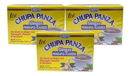 Imagen 1 de 4 de Te Chupa Panza Jengibre Linaza 30 Sobres (3 Cajas)