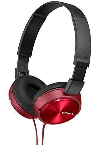 Sony Plegable Auriculares Mdr Zx310 R Rojo Metálico