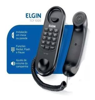 Telefone Com Fio Flash E Rediscagem Parede E Mesa Tcf1000