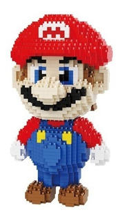 Muñeco Figura Mario Bros Armable Micro Bloques 1701 Piezas