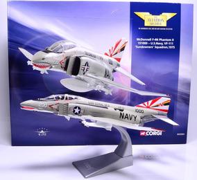 Miniatura Avião Caça Em Metal Escala 1/72 Phantom F-4n Corgi