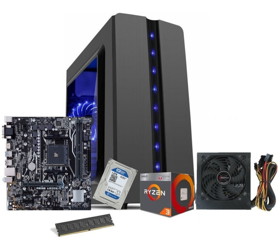 Pc Gamer Completo Ryzen 3 2200g 8gb 1tb Fonte 500w