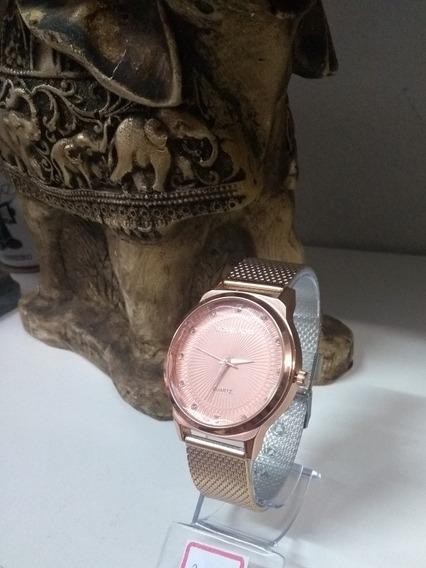 Relógio Feminino Rose/dourado