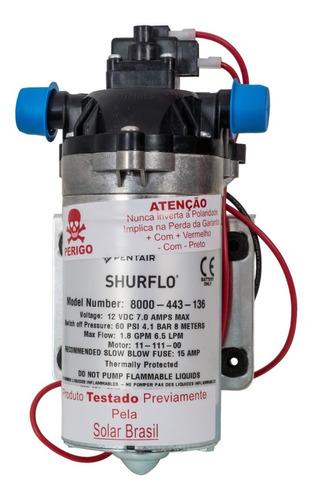 Bomba De Água Solar Flutuante Shurflo 8000 443 136 12v