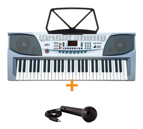 Teclado Musical Organo Mk2083 54 Teclas Sonidos Y Ritmos