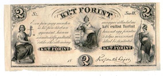 Hungria Filadelfia Usa Billete 1852 2 Forint P#s142r1 - Xf