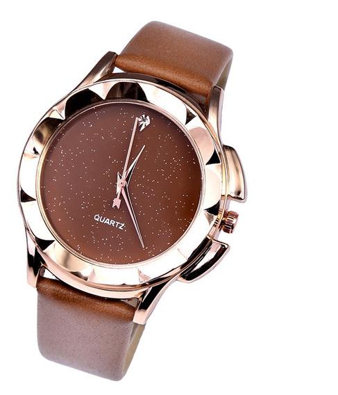 Reloj Casual Simple De Cuarzo Para Mujeres Niñas Marrón