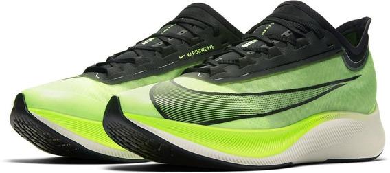 Tenis De Competencia Nike Zoom Fly 3 Hombre Correr Maraton