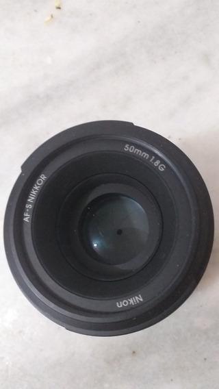 Af-lente Nikon 50mm 1.8 Af-s Seminova