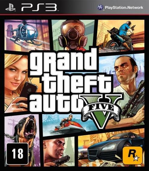 Grand Theft Auto V Gta V Ps3 Lacrado Mídia Física