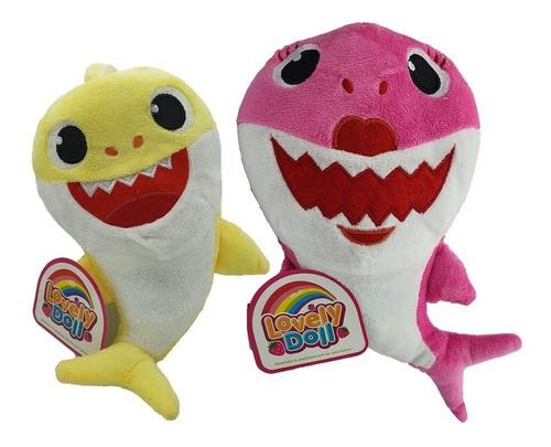 Imagen 1 de 3 de Peluche Baby Shark 30 Cm Con Música Y Luces - Bebes Y Niños