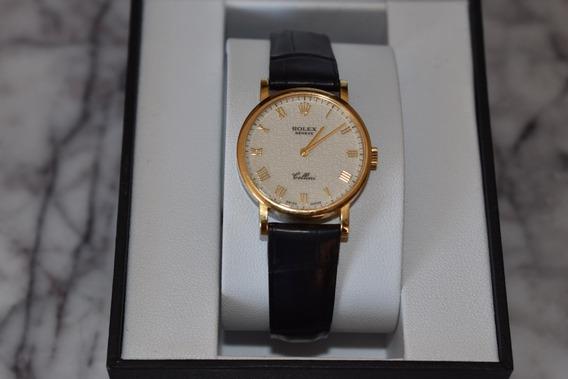 Reloj Rolex Cellini Para Dama 18 K.