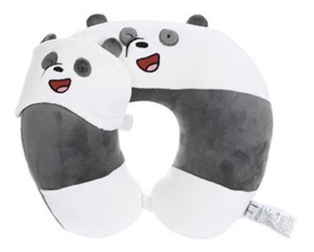 Almofada De Pescoço E Máscara Miniso - Ursos Sem Curso
