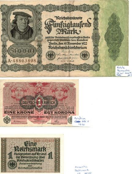 Coleção Cédulas Alemanha E Aústria - 23 Cédulas - Rav73