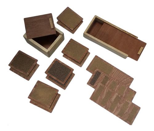 Imagen 1 de 4 de Ingeniacrea: Juego Tactil De Lija Montessori