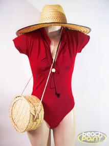 Kit Verão 2019, Body + Bolsa + Chape De Palha Surf, Sol