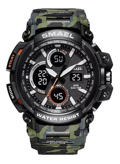Relógio Masculino Militar Esportivo Digital Smael 1708