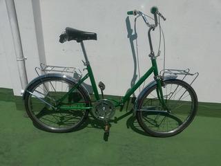 Bicicleta Plegable Antigua Rodado 24