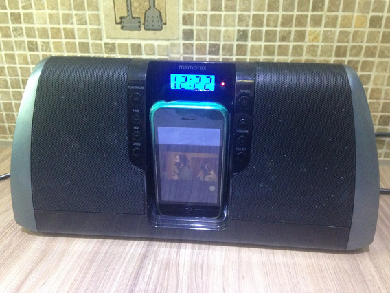 Dockstation Para iPod iPhone Memorex Mi3020 Som Reprodutor